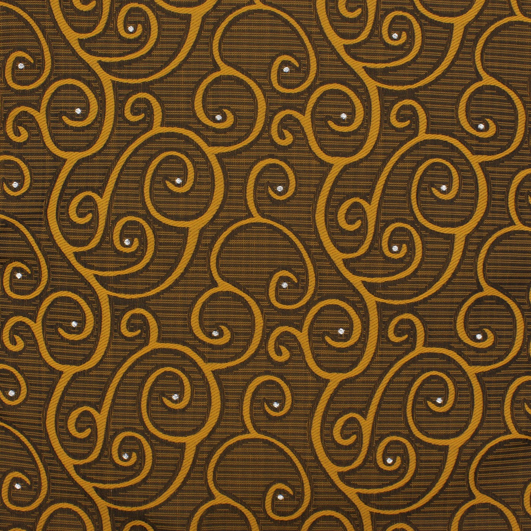 Golden Flair Pattern Pocket Square