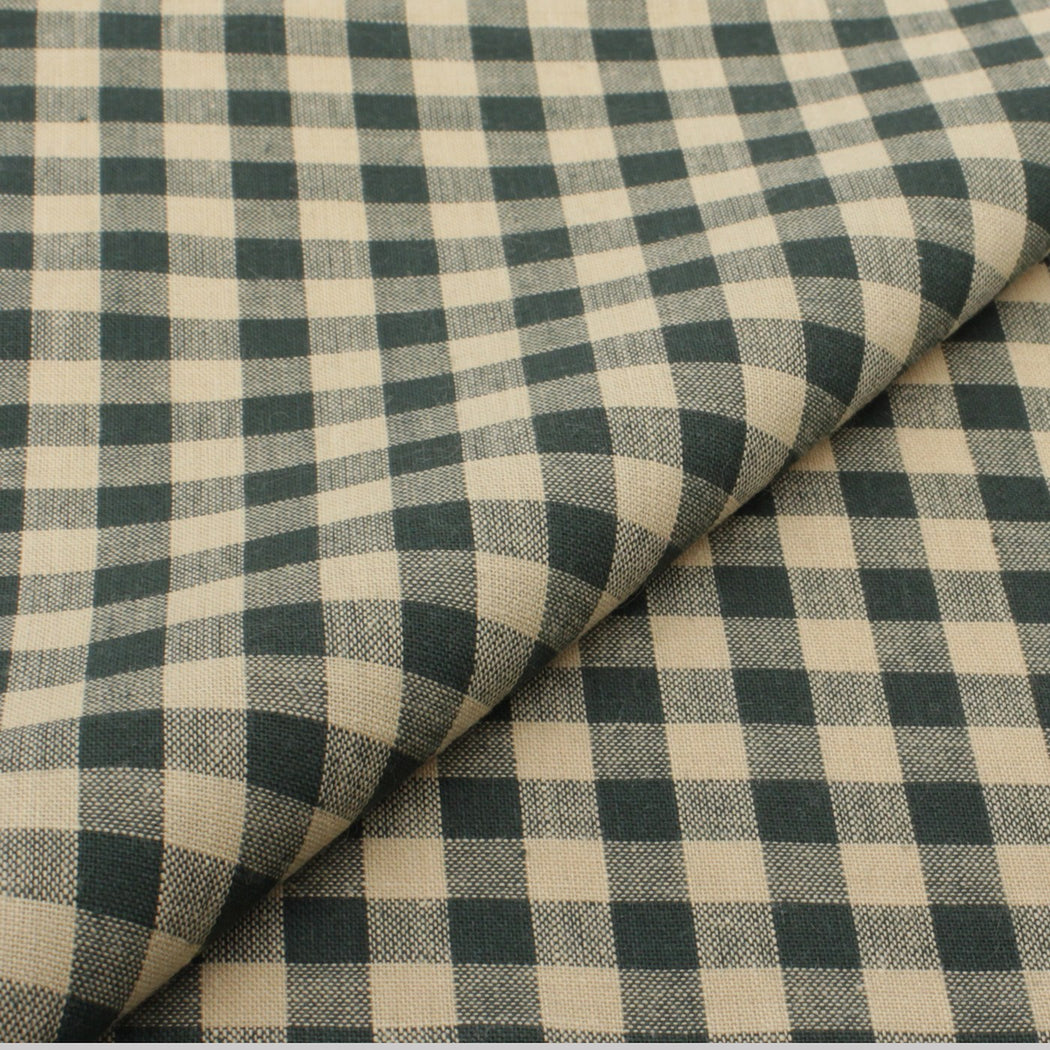 Green & Cream Plaid Pocket Square