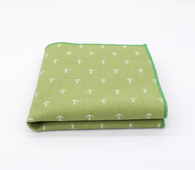 Green Navy Pattern Pocket Square