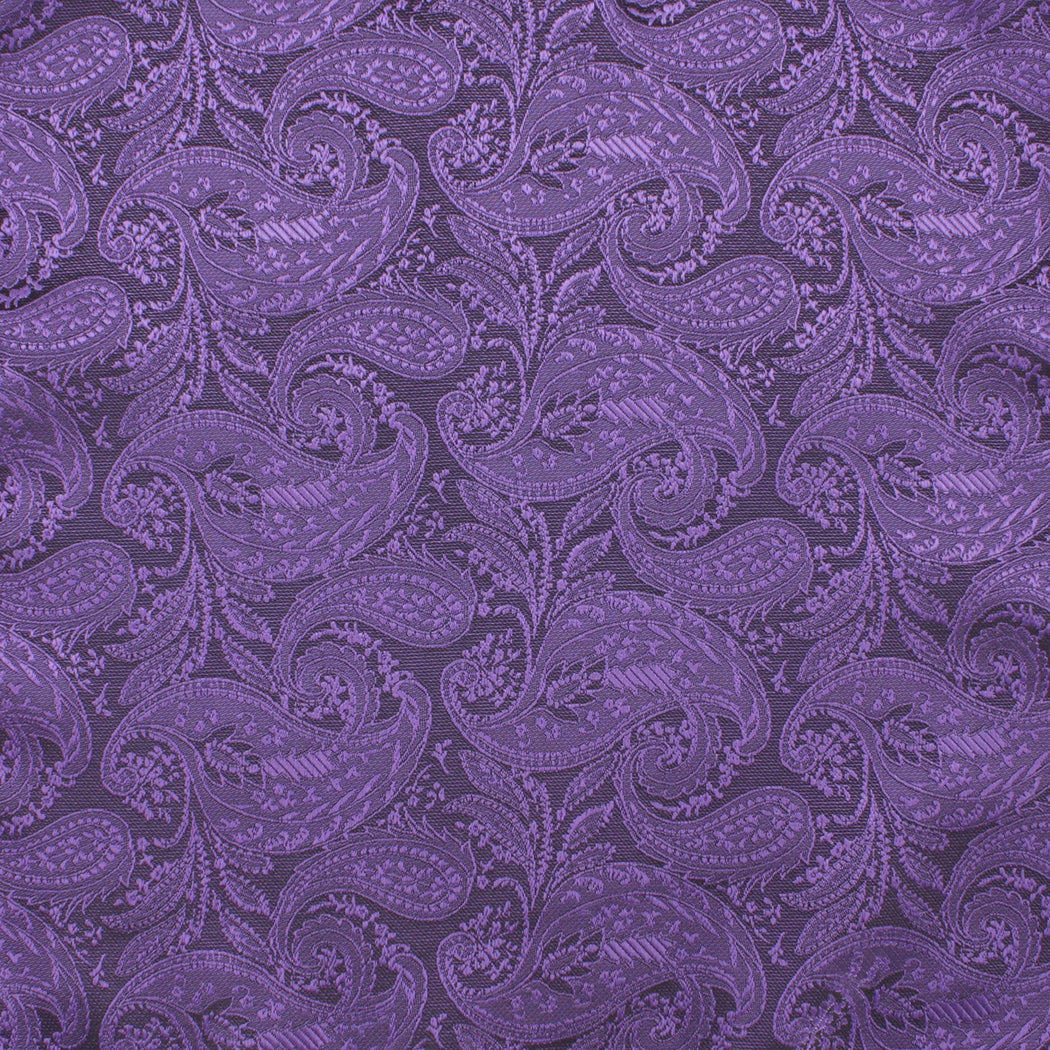 Iris Purple Paisley Pocket Square
