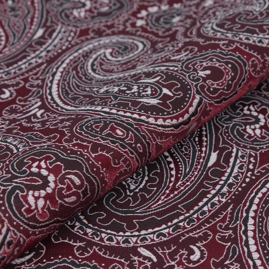 Jam Red Paisley Pocket Square