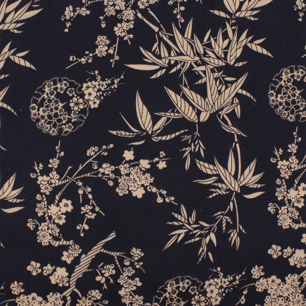 Jet Black Flower Hanky