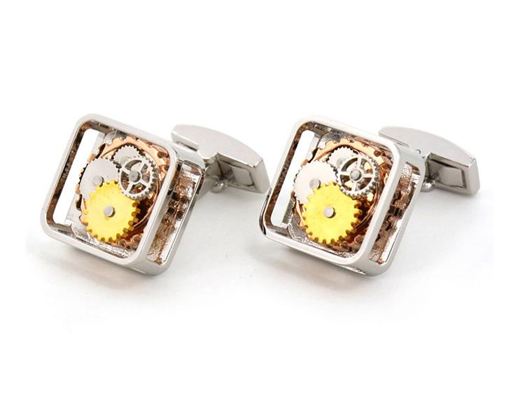 Light Square Mechanical Watch Movement Cufflinks