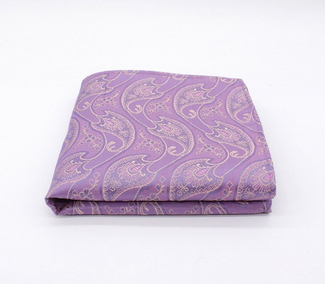 Lilac Purple Paisley Pocket Square