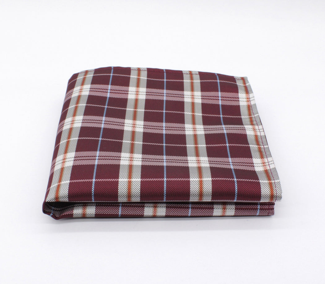 Marvelous Maroon Plaid Pocket Square