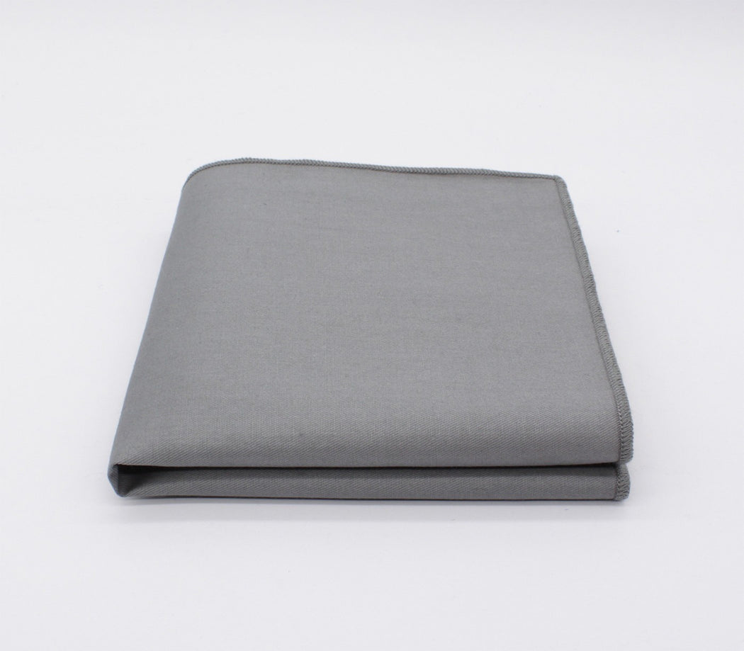 Metal Gray Awesomeness Solid Color Pocket Square