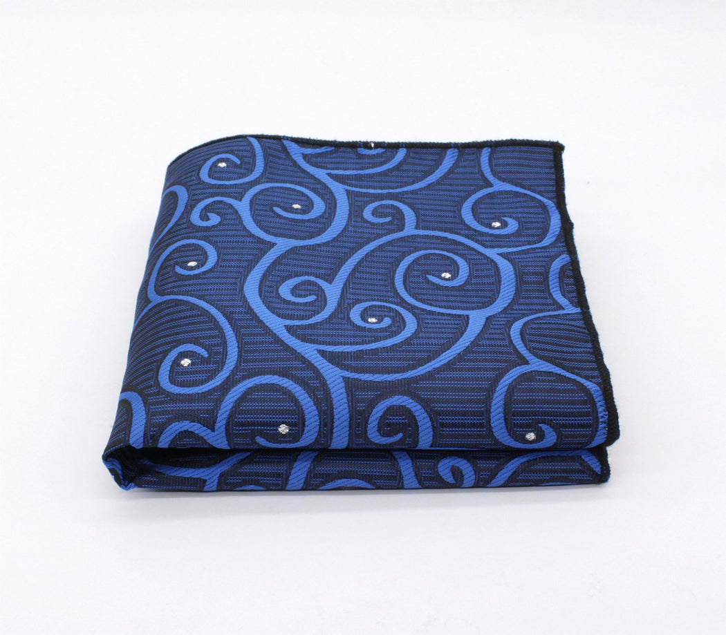 Ocean Waves Pattern Pocket Square