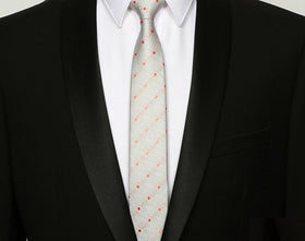 Orange Spots Skinny Tie