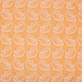 Orange & White Glow Paisley Pocket Square