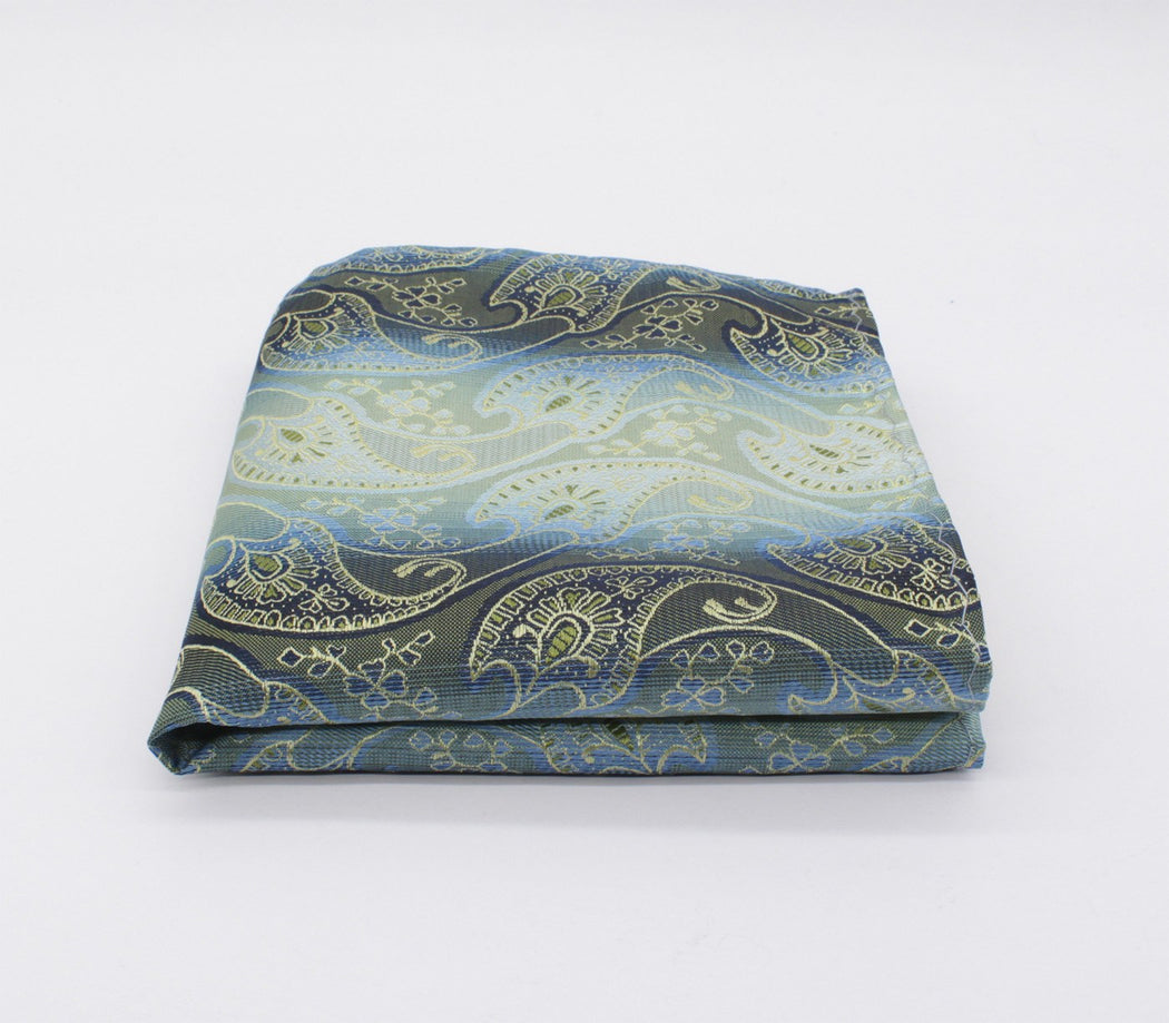 Juniper Green Paisley Pocket Square