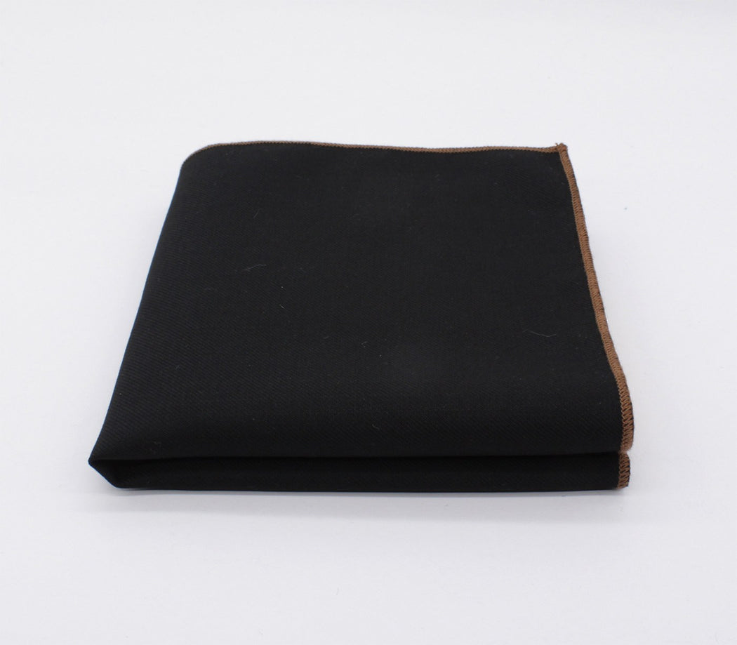 Perfect Black & Brown Solid Color Pocket Square