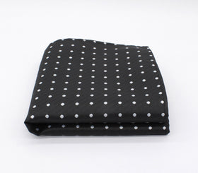 Perfect Black Polka Dot Pocket Square