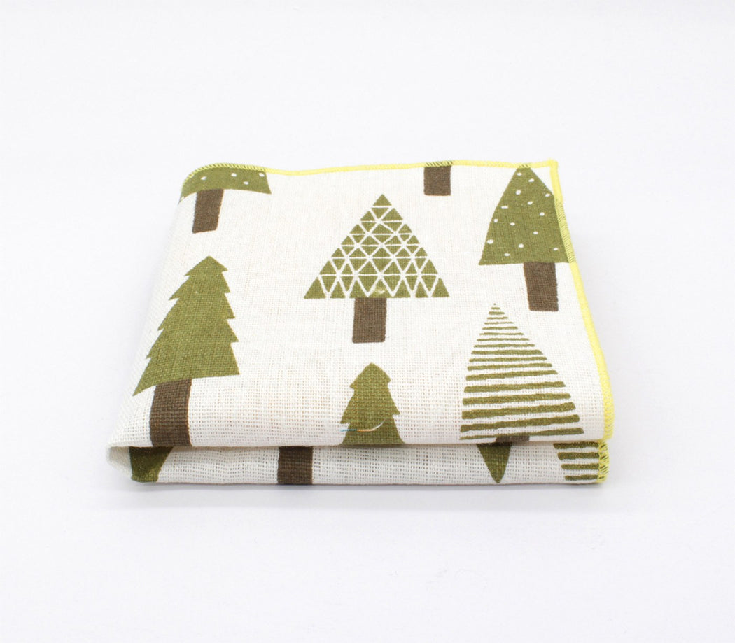 Pine Pattern Pocket Square