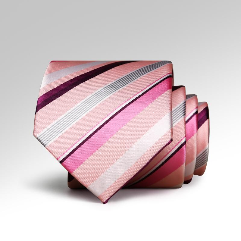 Pink Candy Striped Tie