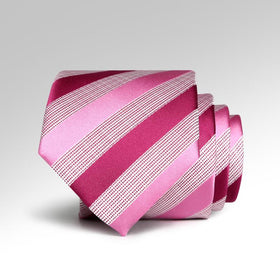 Pink Fancy Striped Tie