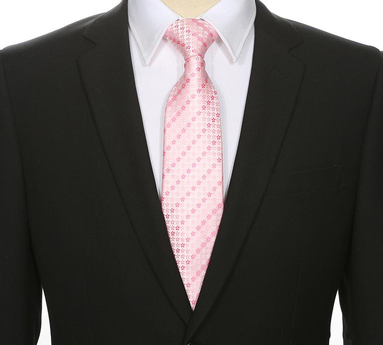 Pink Floral Striped Tie