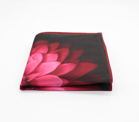 Pink Lotus Pattern Pocket Square