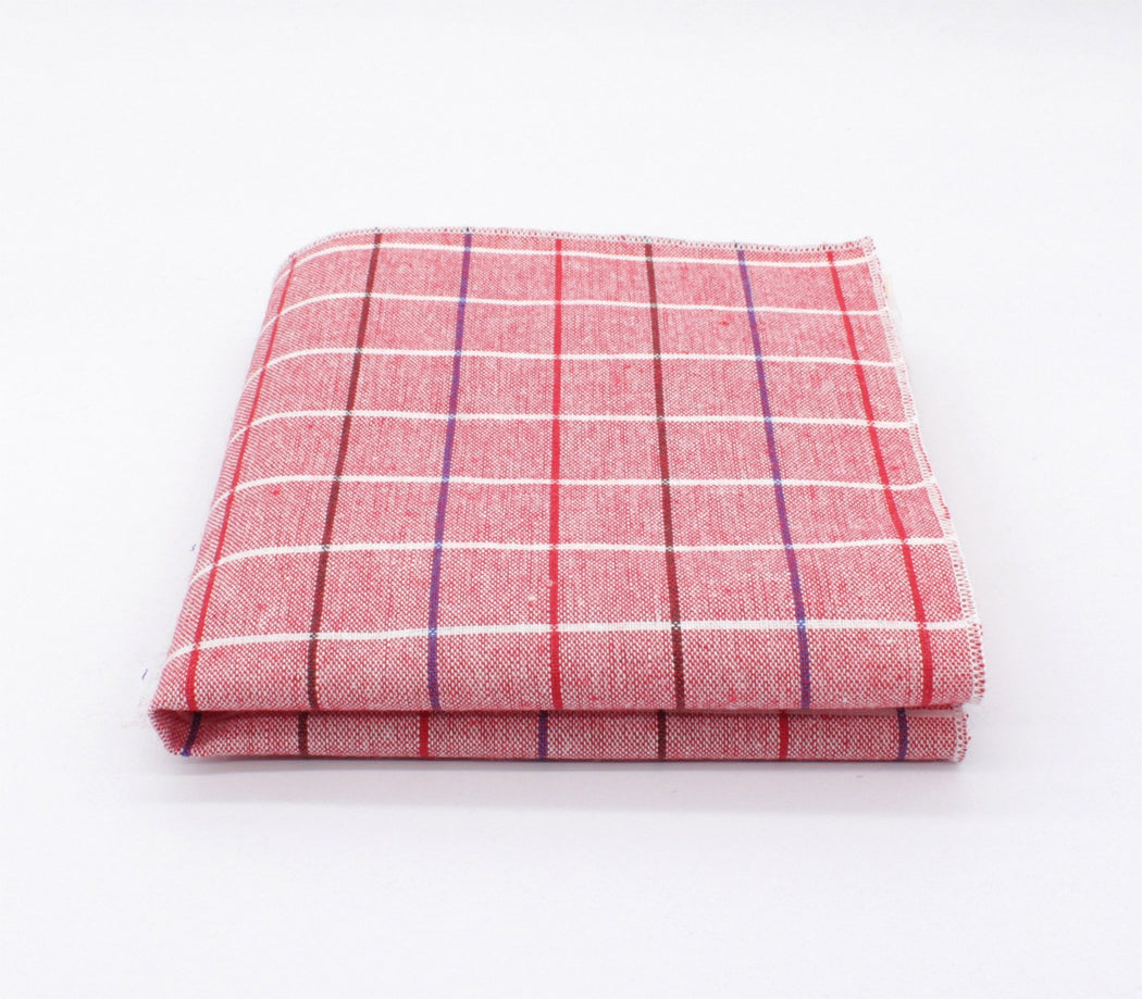 Pink Love Plaid Pocket Square