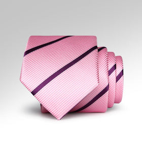 Pink Pen Striped Tie