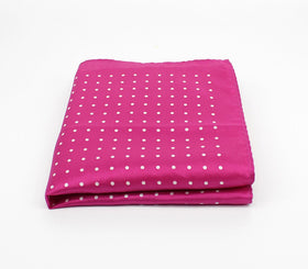 Pink Polka Silk Pocket Square