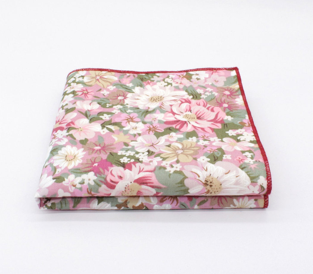 Pink Touch Flower Pocket Square