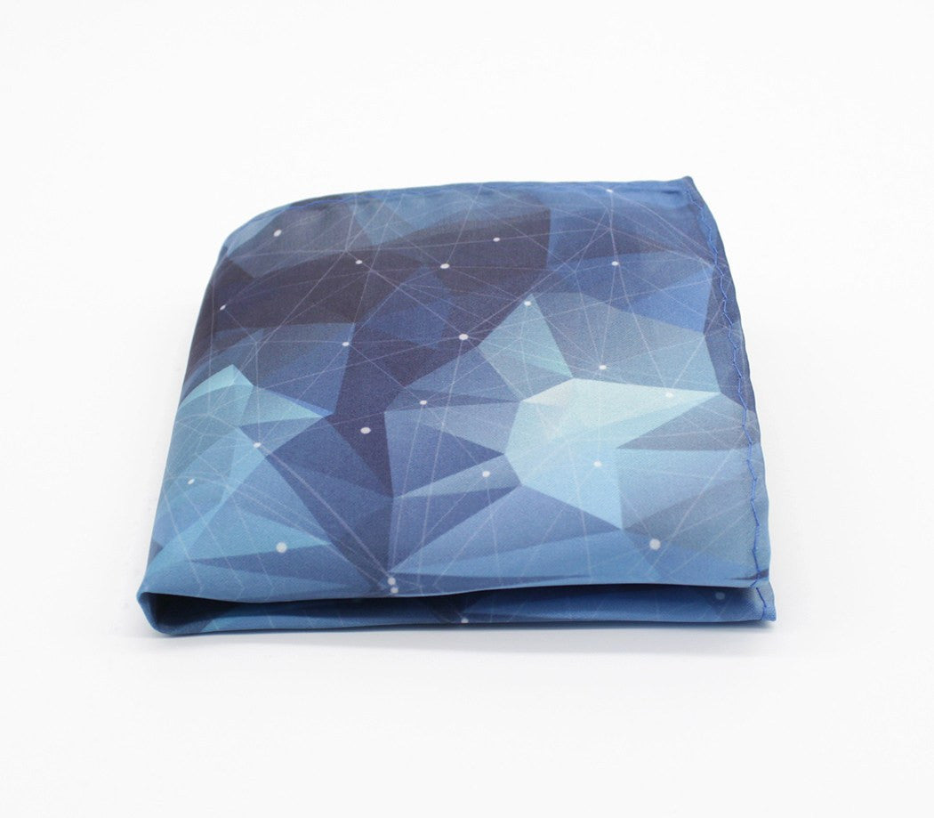 Prismatic Pattern Pocket Square