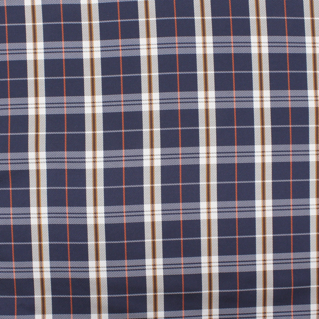 Pure Blue Plaid Pocket Square