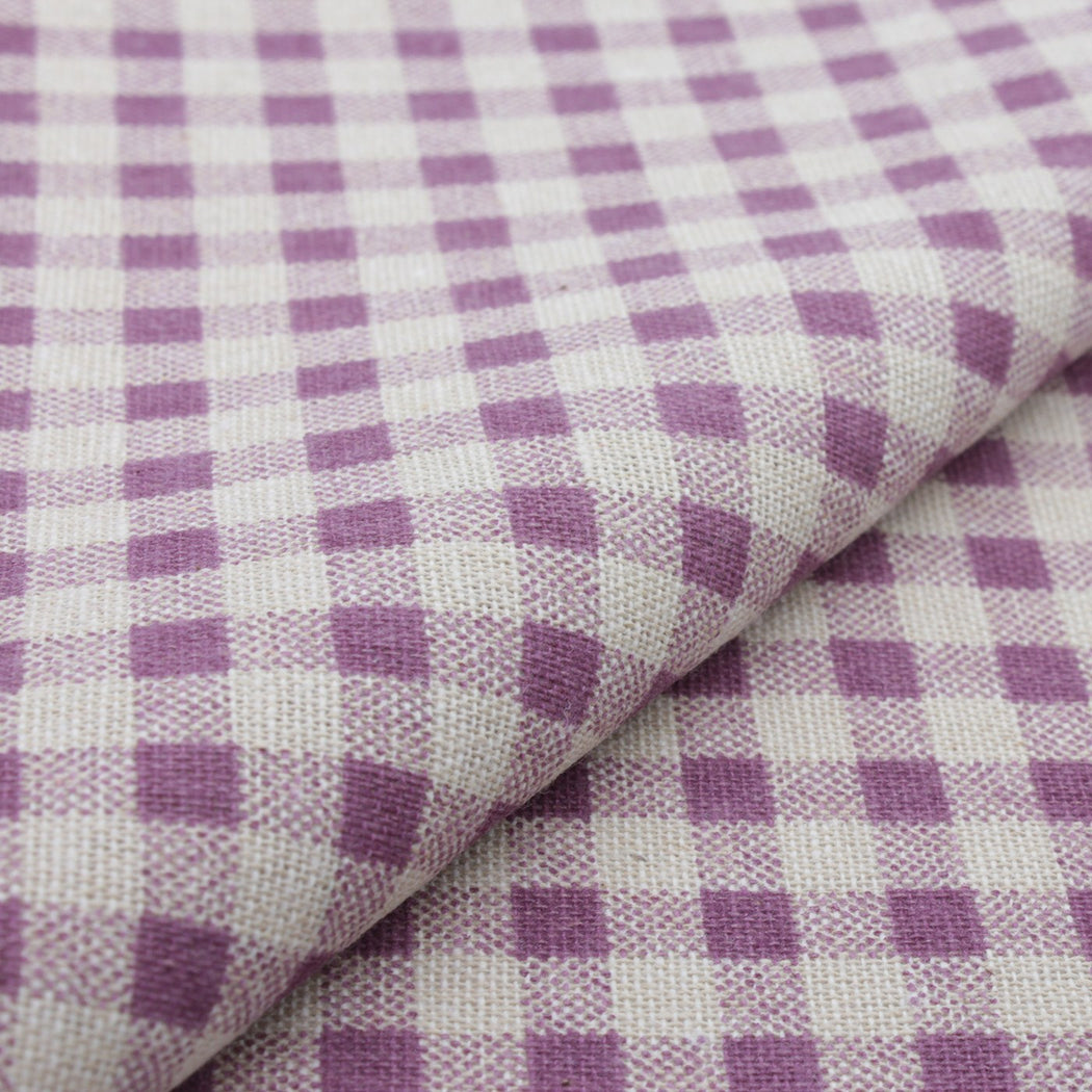 Purple & Cream Plaid Pocket Square