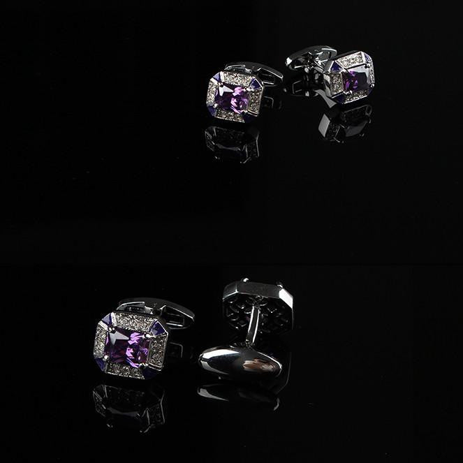 Purple Finesse Cufflink