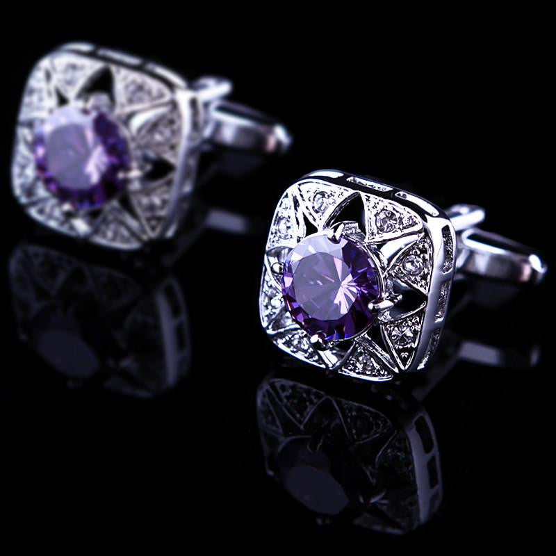 Purple Jewel Cufflink