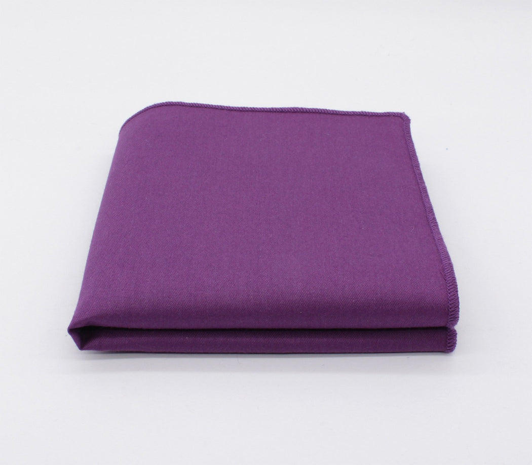 Purple Supremacy Solid Color Pocket Square