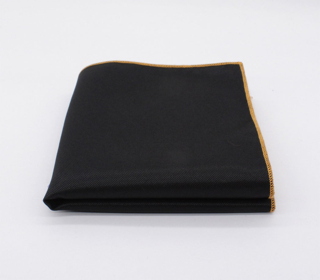 Rapper Black & Brown Solid Color Pocket Square