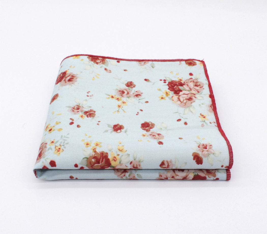 Reagent Red Flower Pocket Square