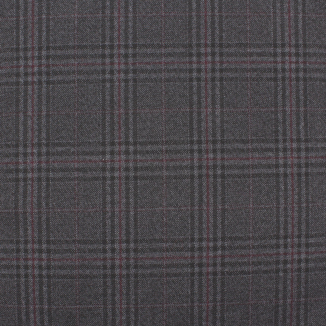 Real Charcoal Plaid Pocket Square