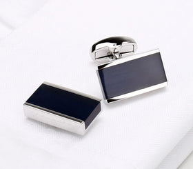 Rectangle Black Cufflink