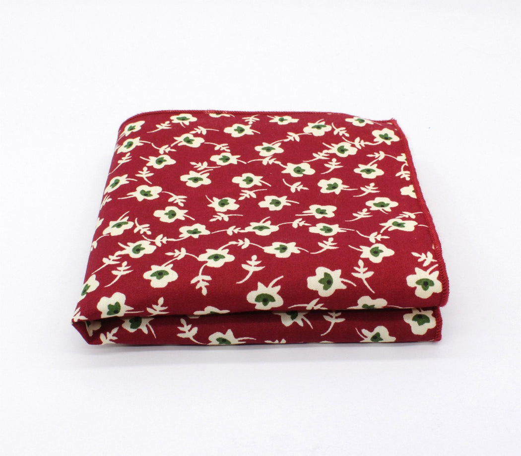 Red Flair Pattern Pocket Square