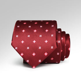 Red Flowers Tie