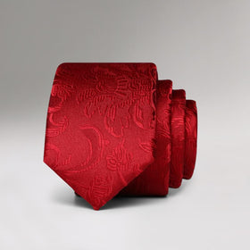Red Nature Skinny Tie
