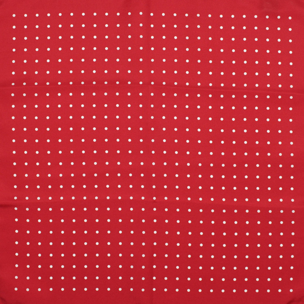 Red Polka Silk Pocket Square