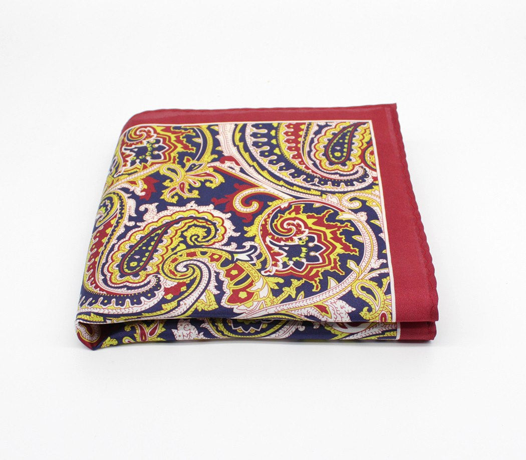 Red Rogue Silk Pocket Square