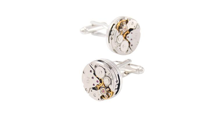 Rough Mechanical Watch Movement Cufflinks