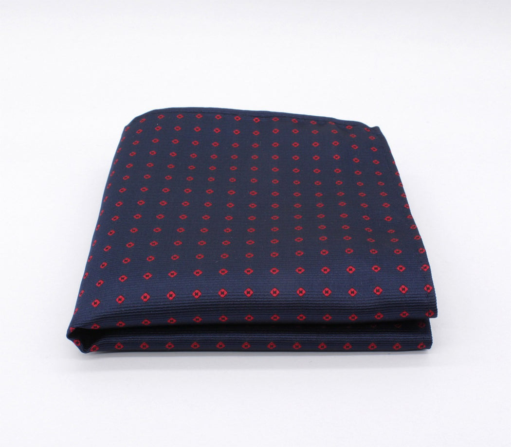 Royal Blue Polka Dot Pocket Square