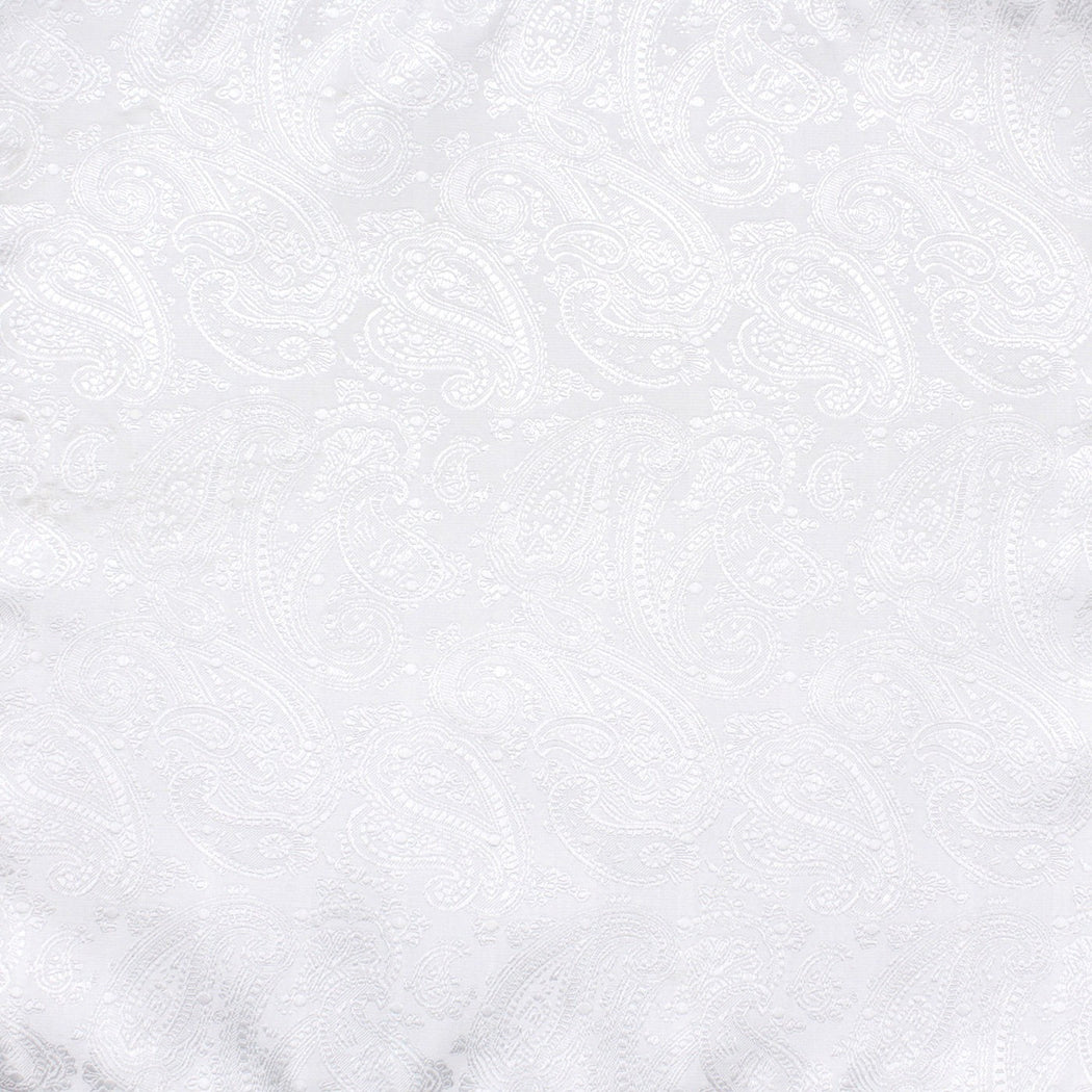 Shiny Silver Paisley Pocket Square