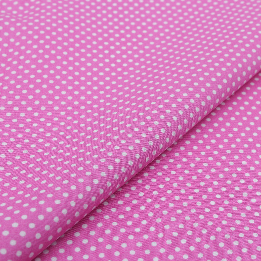 Shocking Pink Polka Dot Pocket Square