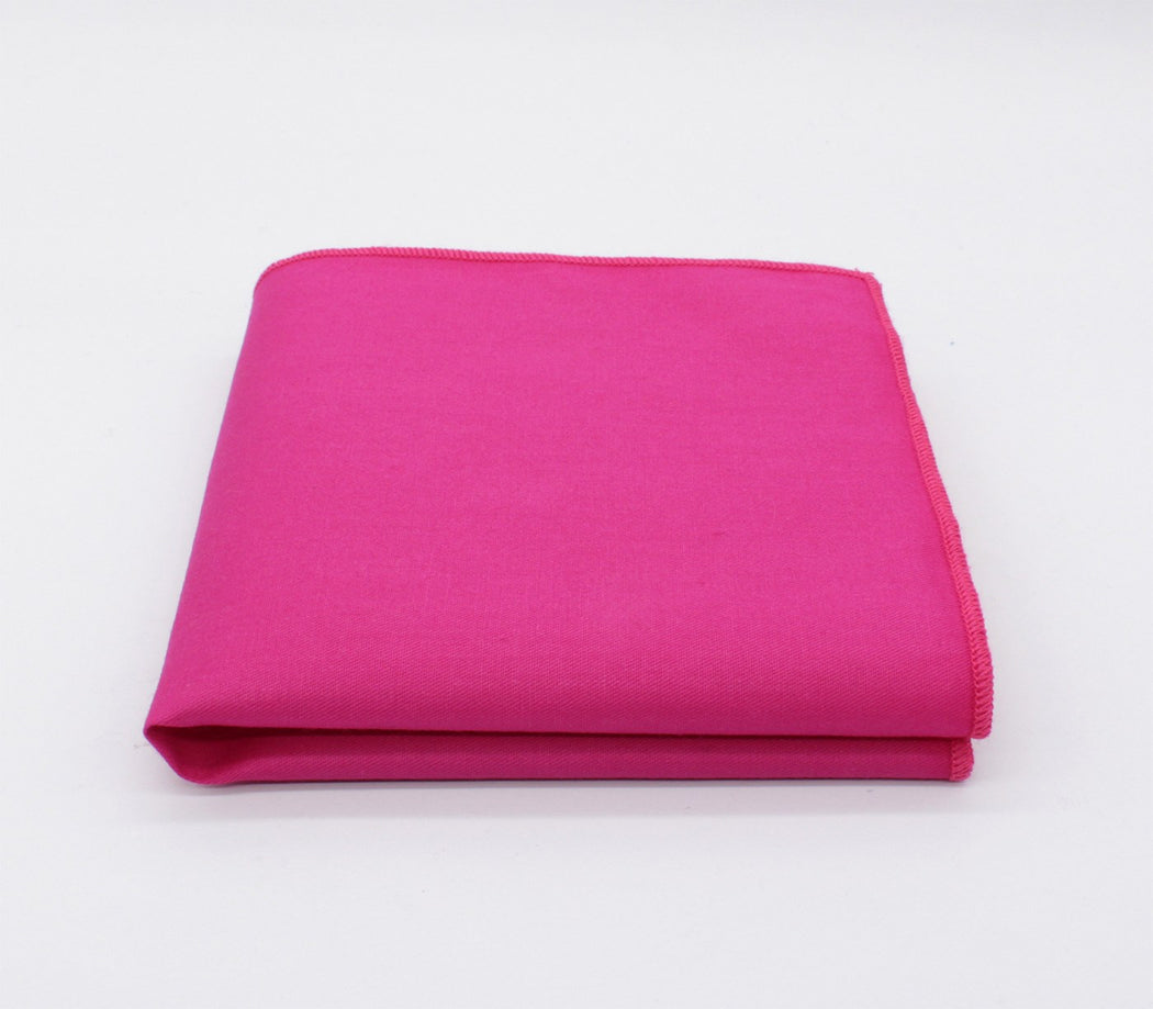 Shocking Pink Solid Color Pocket Square