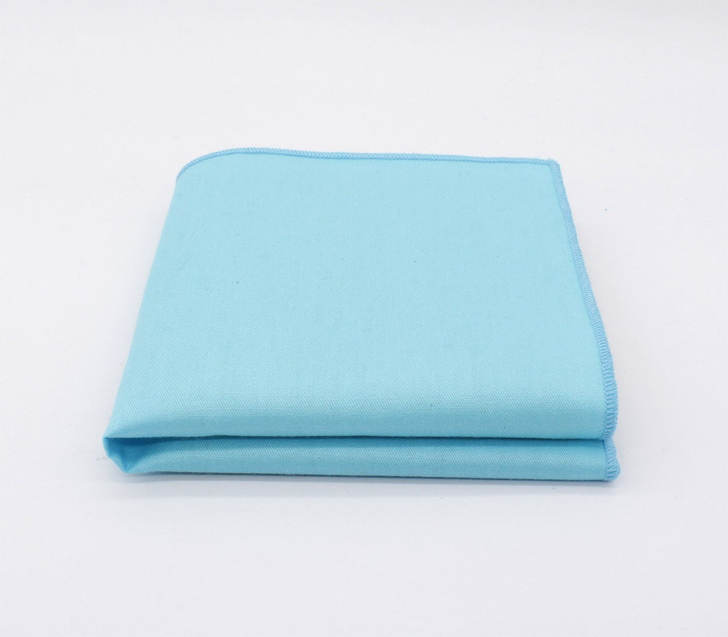 Sky Blue Attractiveness Solid Color Pocket Square