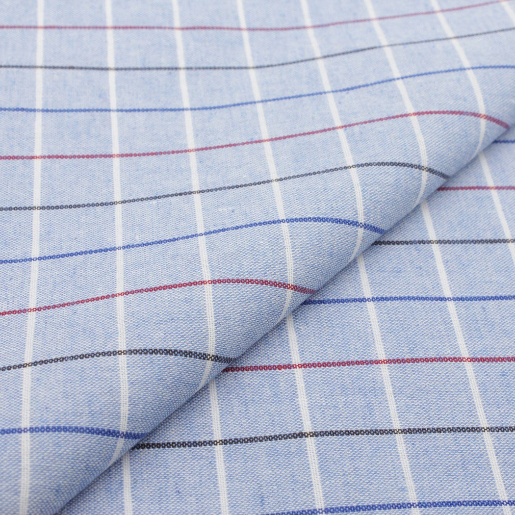 Sky Blue Plaid Pocket Square