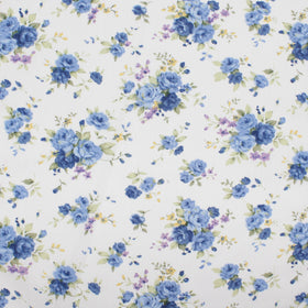Sky Blue Flower Handkerchief