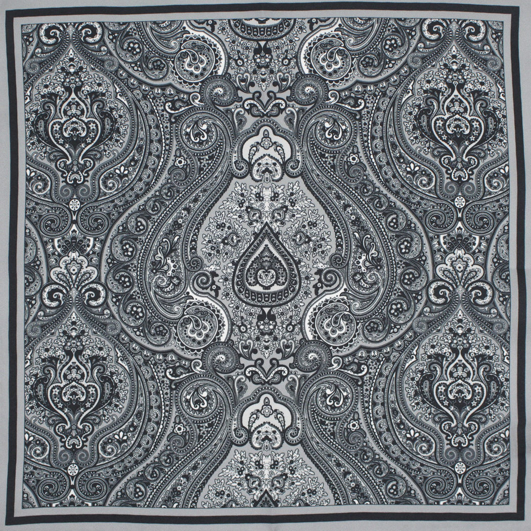 Slate Silk Pocket Square