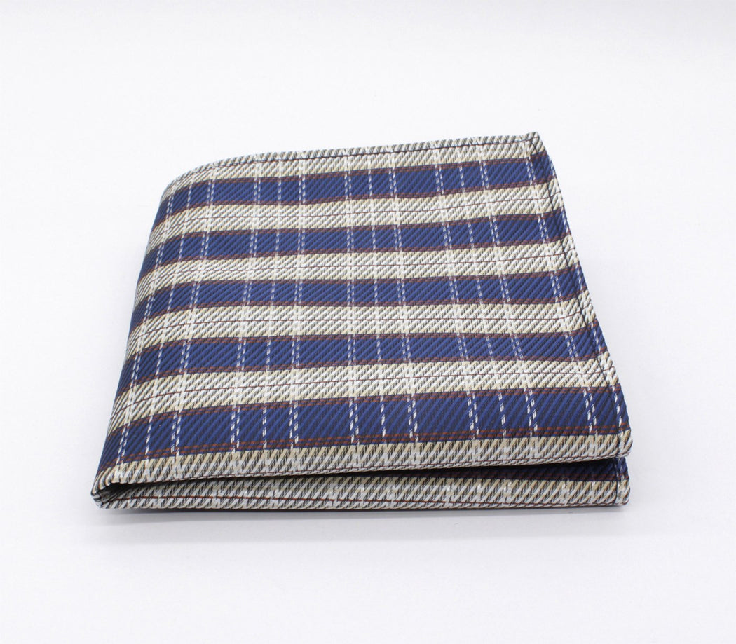 Steel Gray Plaid Pocket Square